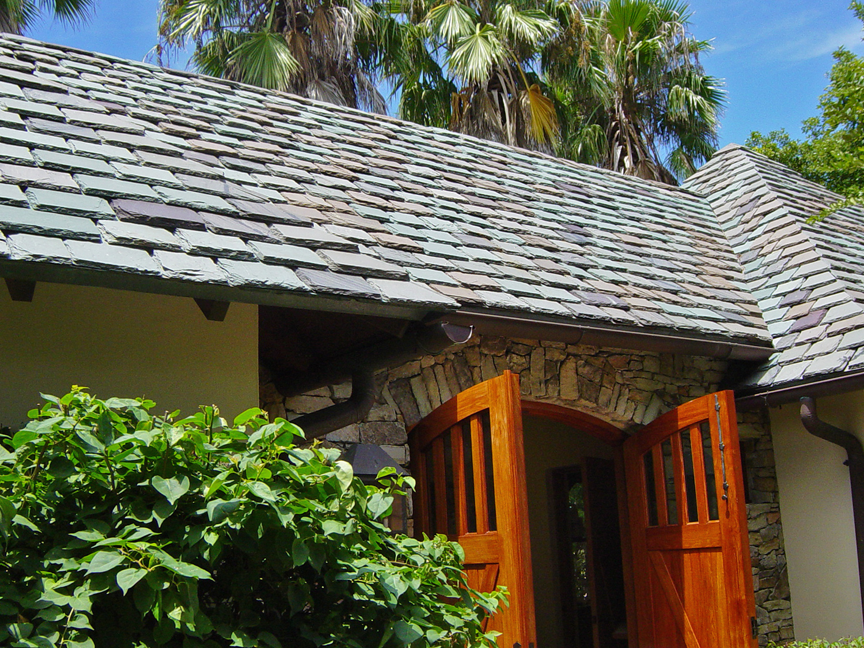 layered slate roof