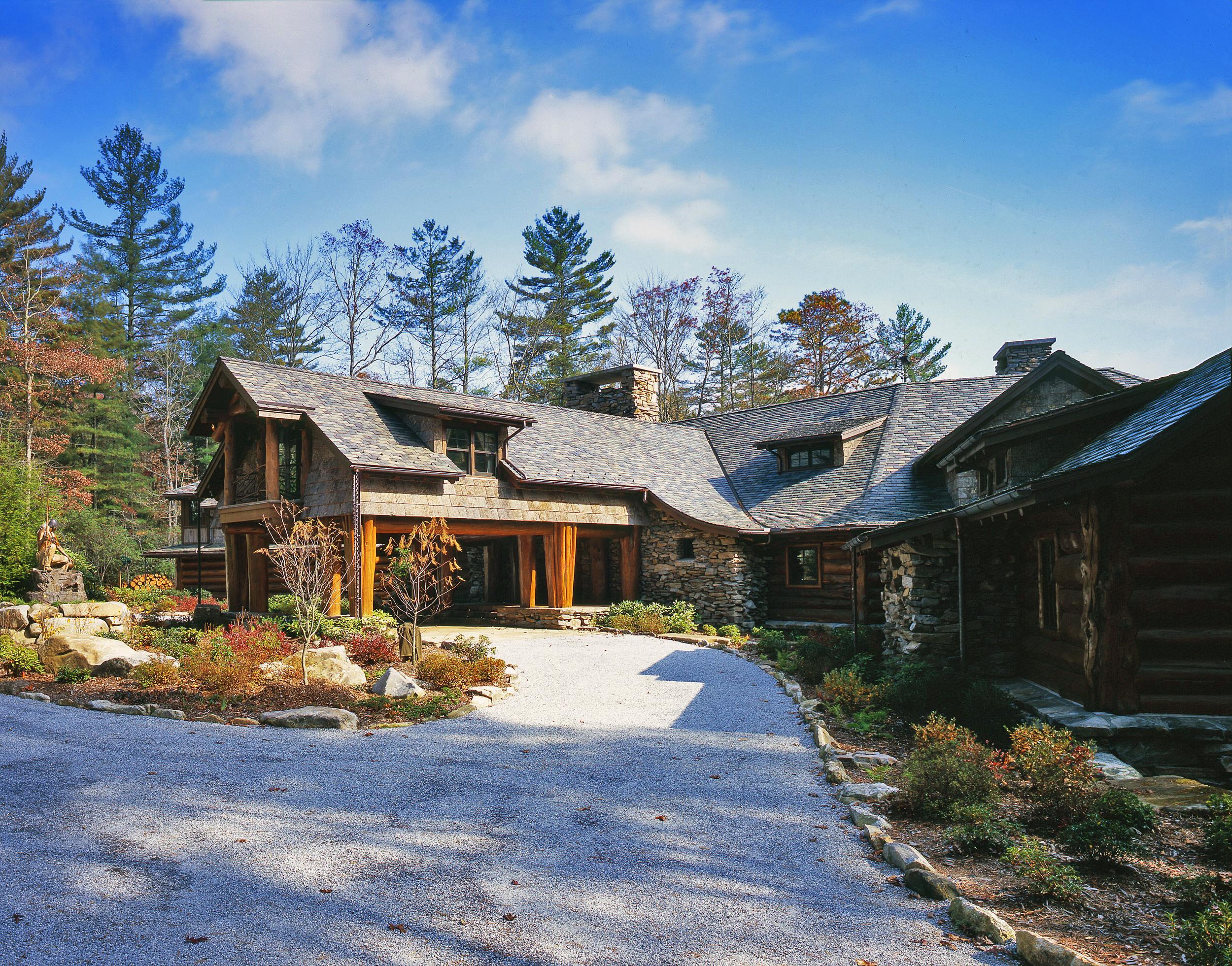 custom slate roof private residence