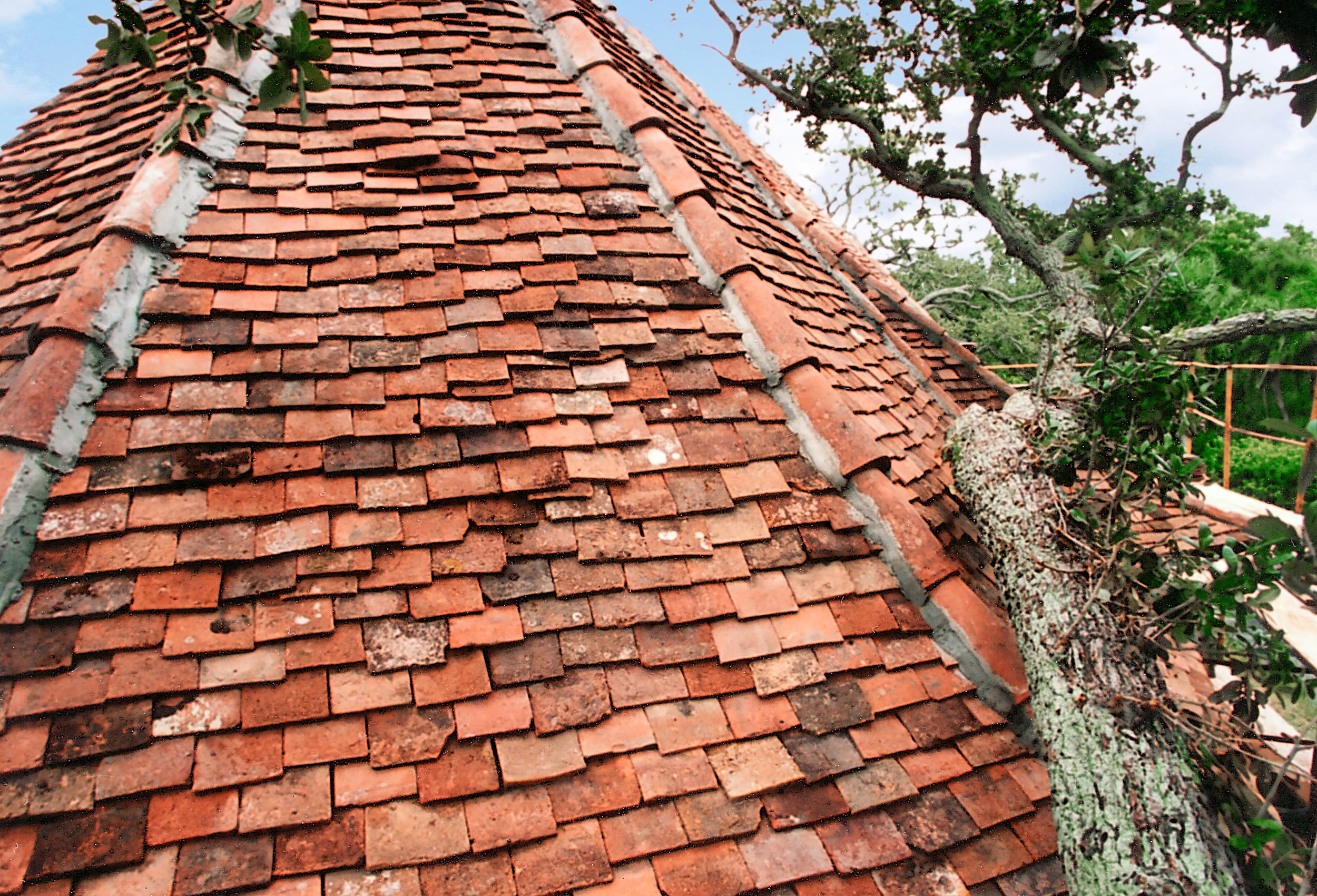 layered tile roof