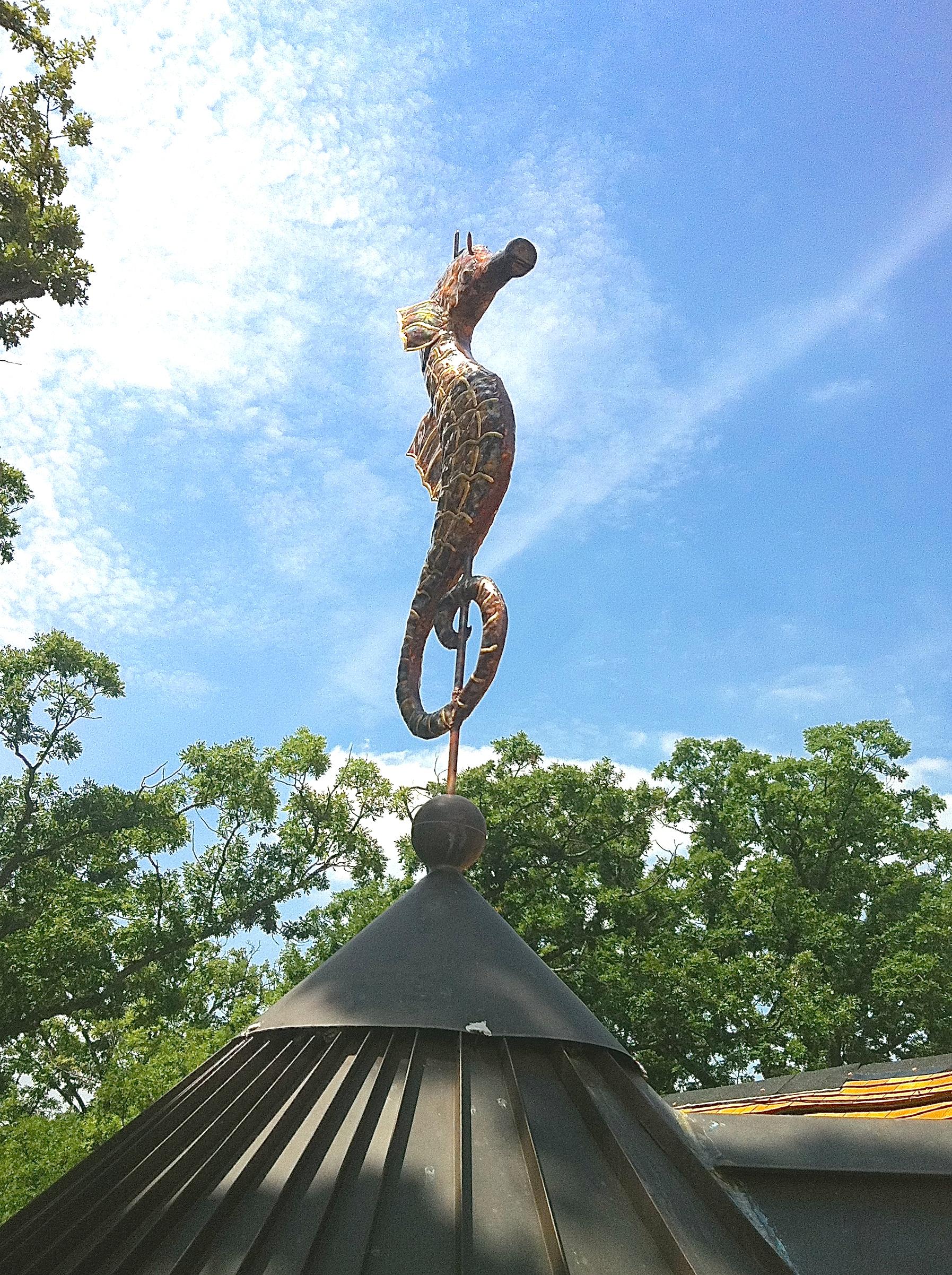 metal seahorse