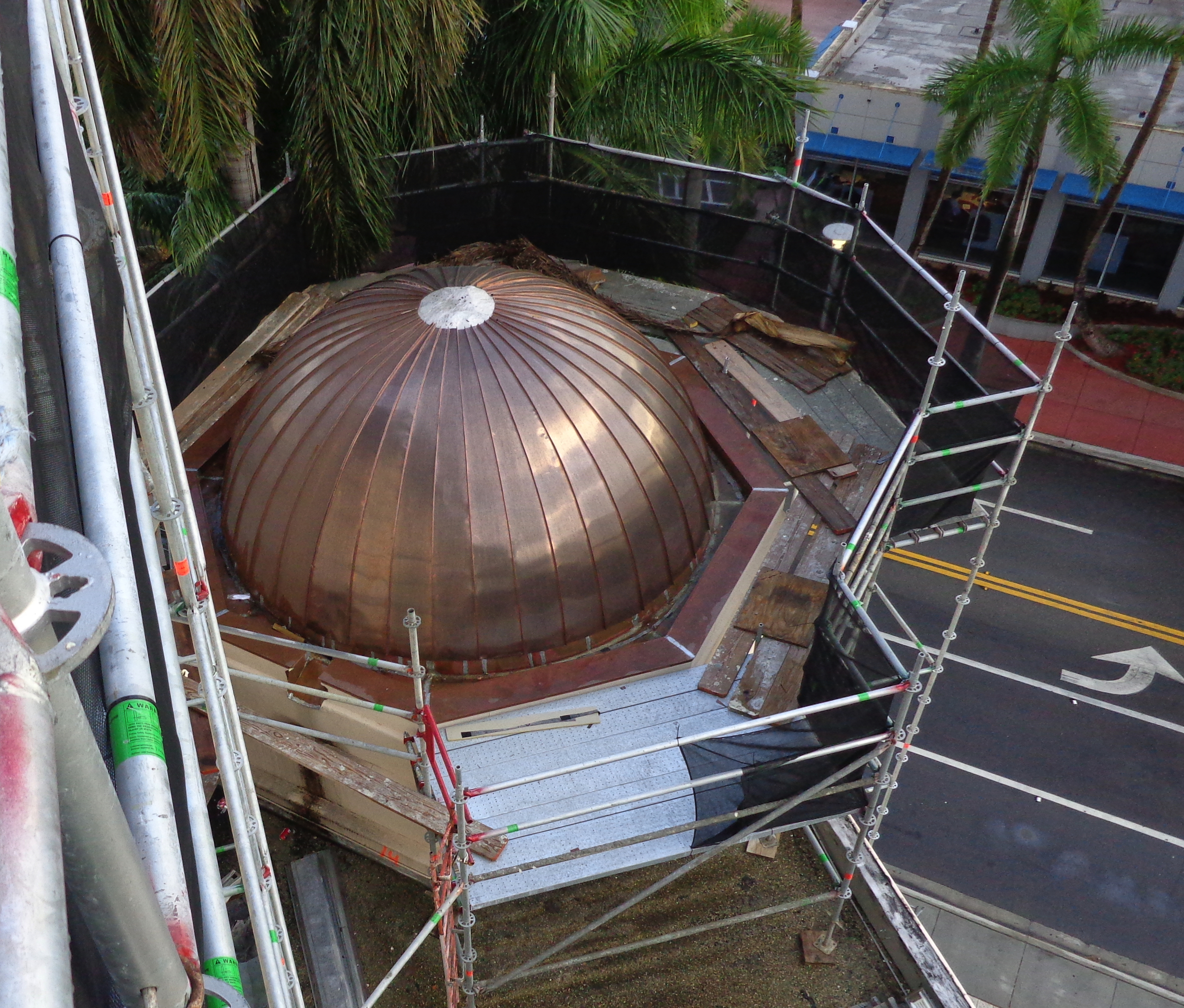 metal dome roof