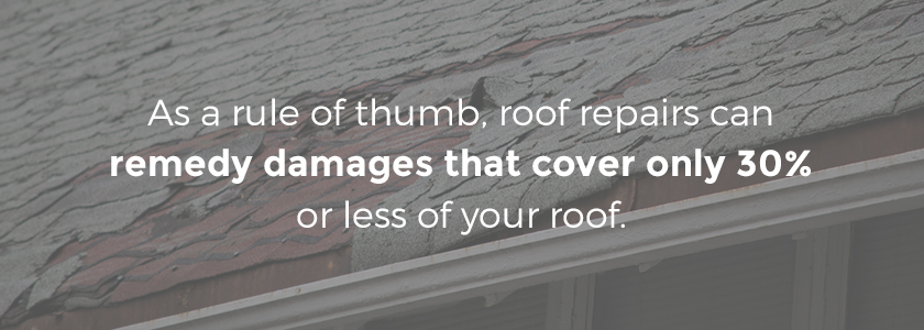 replace your roof if the damage is overwhelming