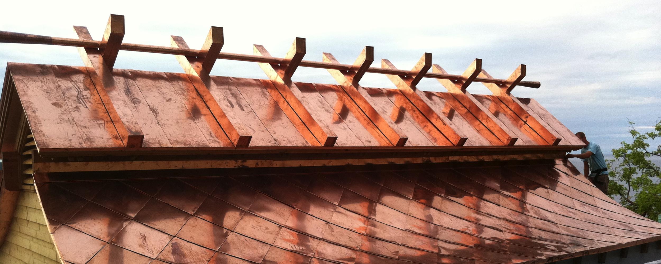 custom design copper roof