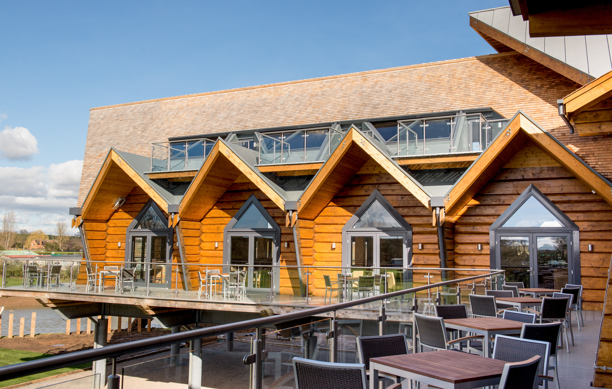 Riverside Clubhouse by Emission Zero architects, Richard Stonehouse architectural photographer.
