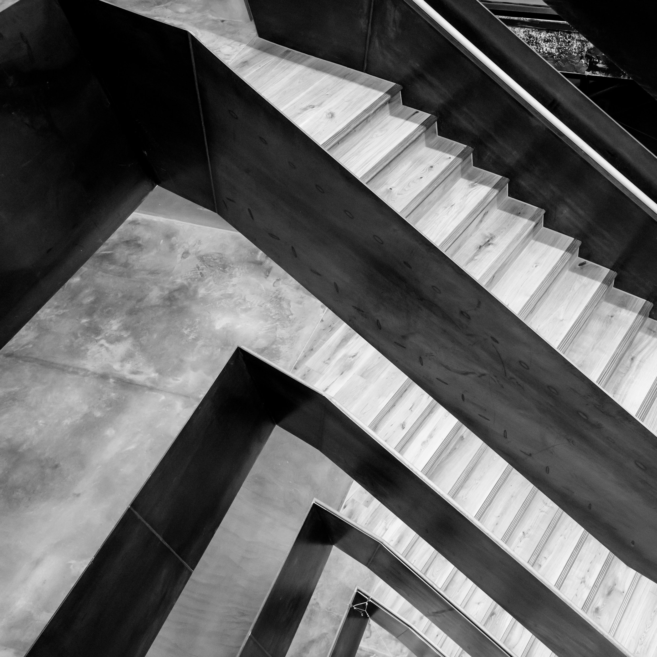 The new staircase in the refurbished Bartlett School of Architecture, 22 Gordon Street. London by Hawkins/Brown Architects