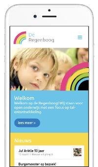 Website op mobiel