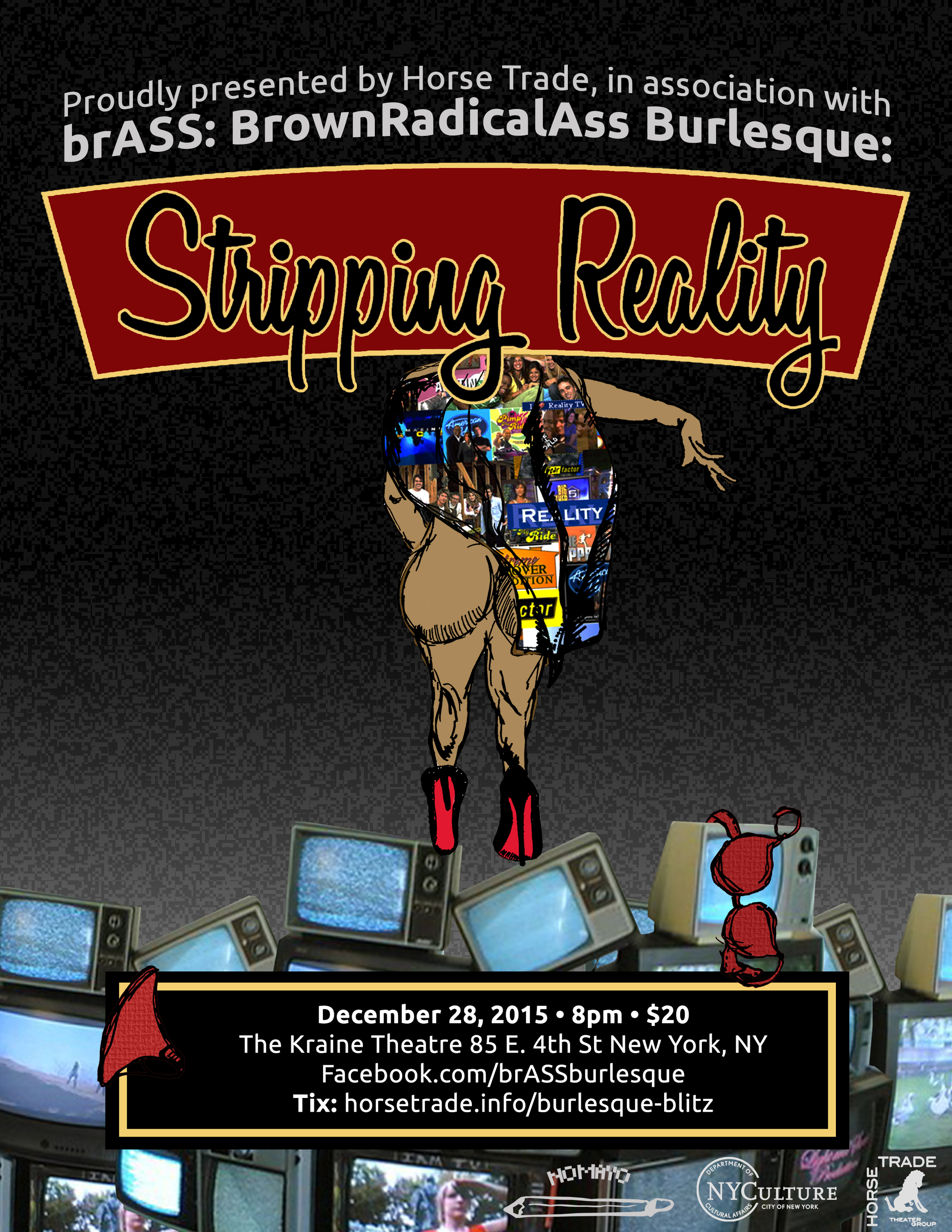 """Stripping Reality"" in NYC, December 28th, 2015, at 8pm:  http://tiny.cc/strippingreality"