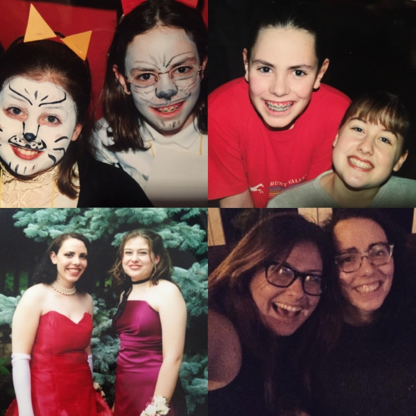 As promised, some pictures of me and Casey over the years. Clockwise from top left: 4th grade, 6th grade, 12th grade, and a millionth grade (New Years Eve 2016)
