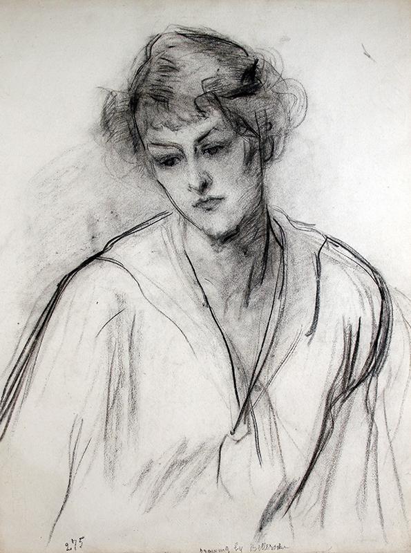 Count Albert de Belleroche | Young Woman in Thought