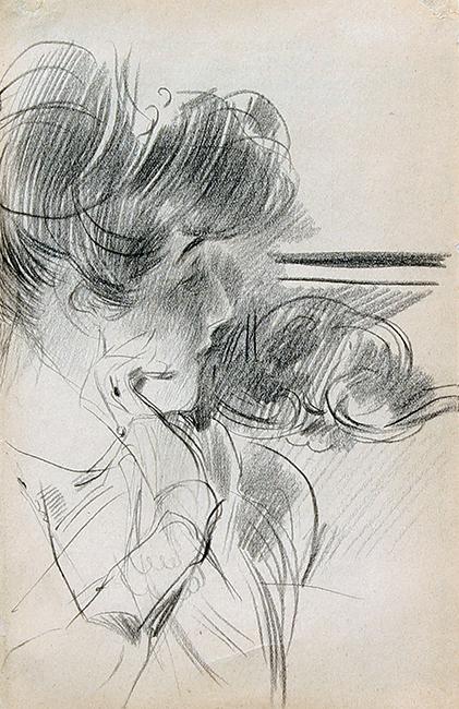 Giovanni Boldini   A Young Lady in Profile