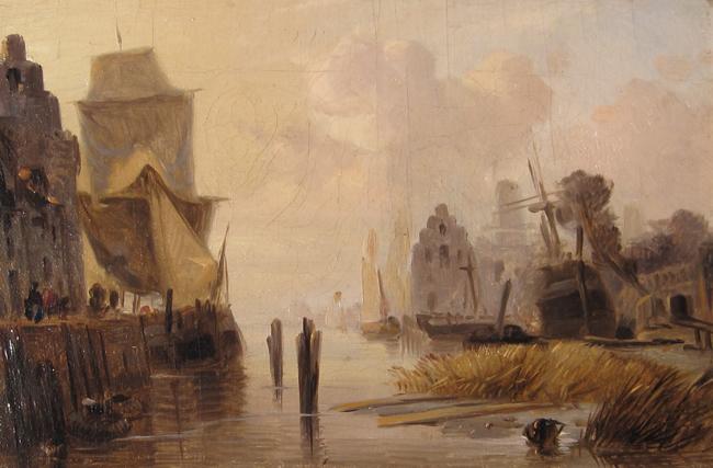Richard Parkes Bonington   Boats in a Harbour