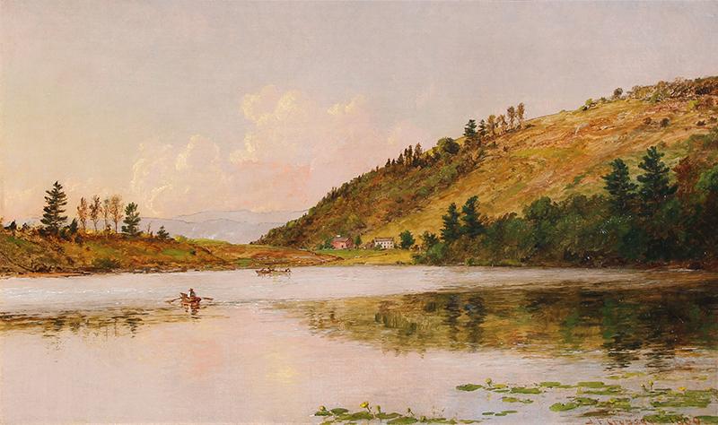 Jasper Francis Cropsey | Boating on Greenwood Lake