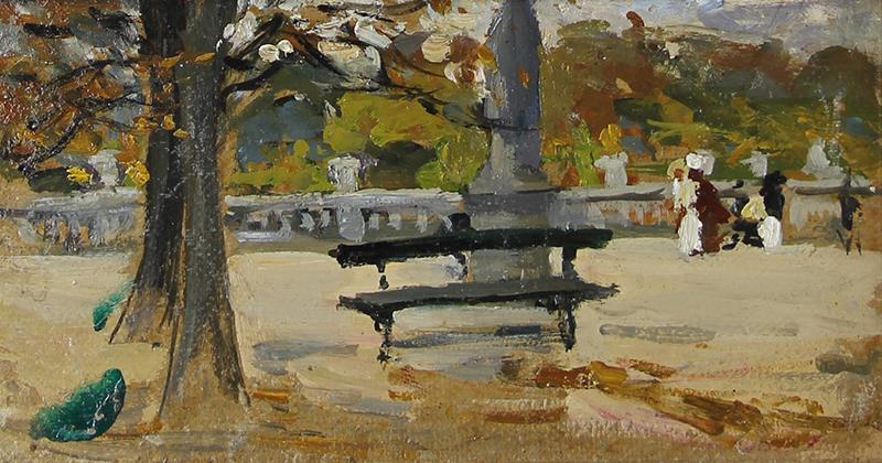 Alice Dannenberg | Park Bench, Paris