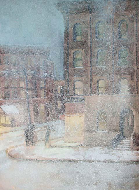 Marcia Oakes Woodbury | Snowfall, New York