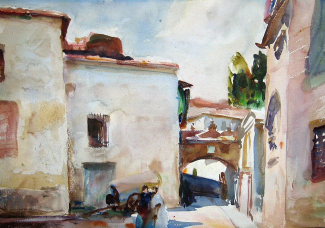 John Whorf | A Spanish Street