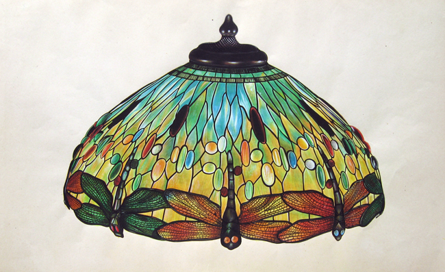 Louis Comfort Tiffany | Design for Tiffany Dragonfly Lamp