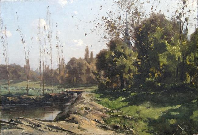 Henri Joseph Harpignies | A Country Stream