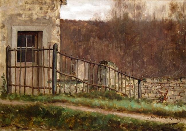 Louis Welden Hawkins | La clôture en bois au bord du chemin