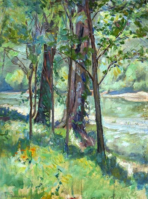 Theodore Robinson | A Woodland Stream