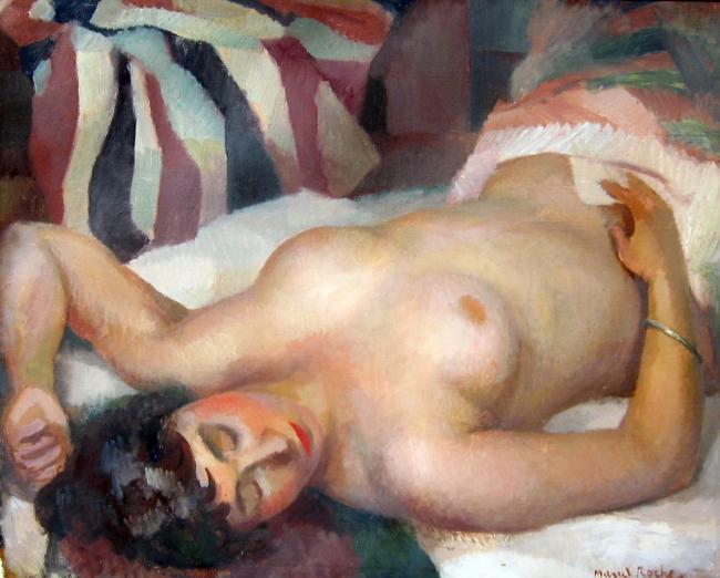 Marcel Roche   A Reclining Nude