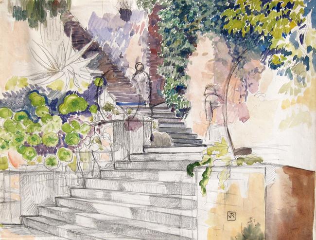 Théo van Rysselberghe   L'Escalier
