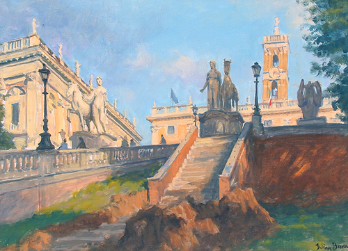 JULIAN BARROW    Campidoglio, Rome   Oil on canvas 12 x 16 inches (30 x 41 cm) $9,500 Click here for more information