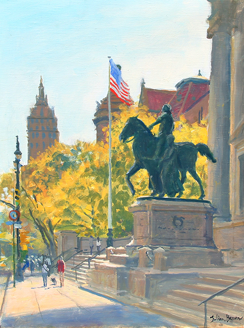 Natural History Museum, Central Park West   Oil on canvas 16 x 12 inches (40.5 x 30.5 cm) $6,200 Click here for more information
