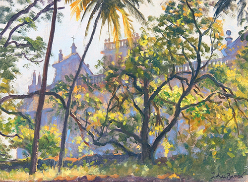 Se Cathedral, Goa   Oil on canvas 9 x 12 inches (23 x 30.5 cm) $4,500 Click here for more information