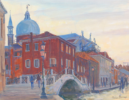 The Redentore, Venice   Oil on canvas 11 x 14 inches (28 x 35.5 cm) $5,500 Click here for more information