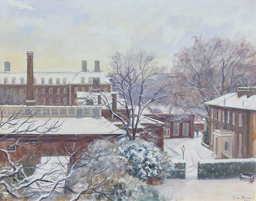 The Royal Hospital in Snow, Chelsea   Oil on canvas 16 x 20 inches (40.7 x 51 cm) $6,800 Click here for more information
