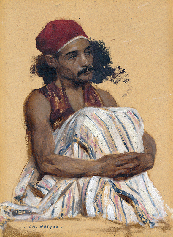 CHARLES BARGUE    Study of Arnaut   Oil on paper 8 x 6 inches (20.4 x 15.4 cm) $12,000 Click here for more information