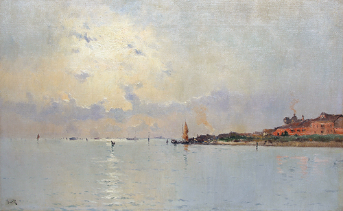 MARIE JOSEPH LEON CLAVEL (IWILL)    View of Giudecca, Venice   Oil on canvas 15 x 24 inches (38.1 x 60.9 cm) $12,000 Click here for more information