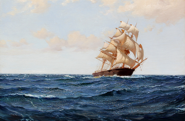 MONTAGUE DAWSON        The Bostonian   Oil on canvas 20 x 30 inches (51 x 76.2 cm) $58,000 Click here for more information