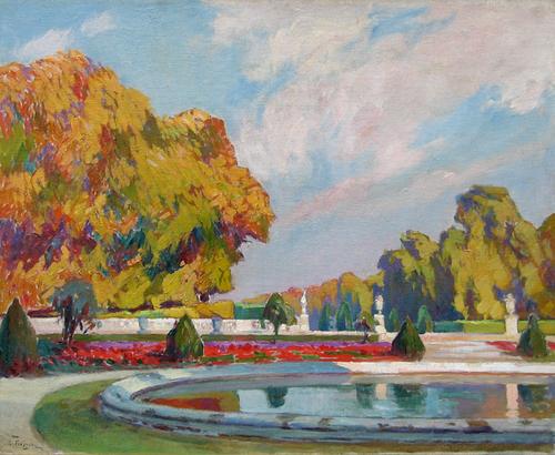 PAUL LÉON FREQUENEZ    Parc Saint Cloud, Paris   Oil on canvas 26 x 32 inches (65 x 84 cm) $9,000 Click here for more information