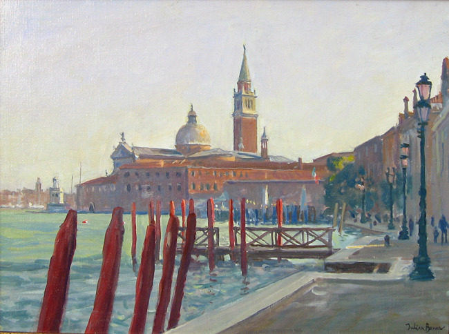 JULIAN BARROW  San Giorgio Maggiore, Venice   Oil on canvas 12 x 16 inches (30.5 x 40.7 cm)  SOLD