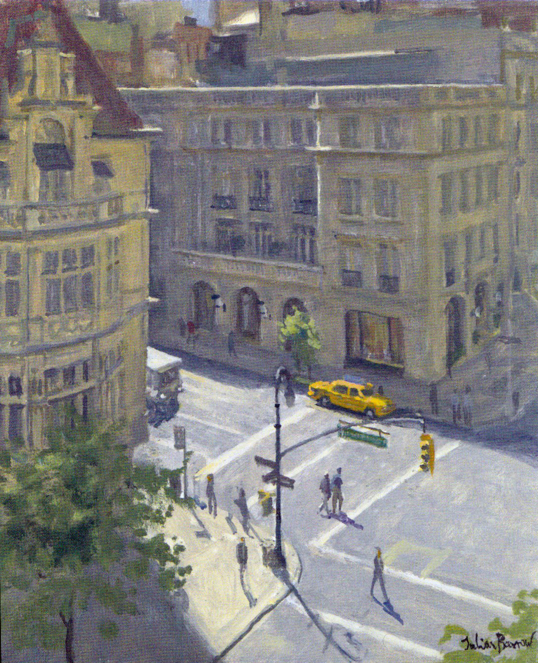 JULIAN BARROW    72nd Street & Madison Avenue, New York   Oil on canvas 12 x 10 inches (30.5 x 25.5 cm)  SOLD