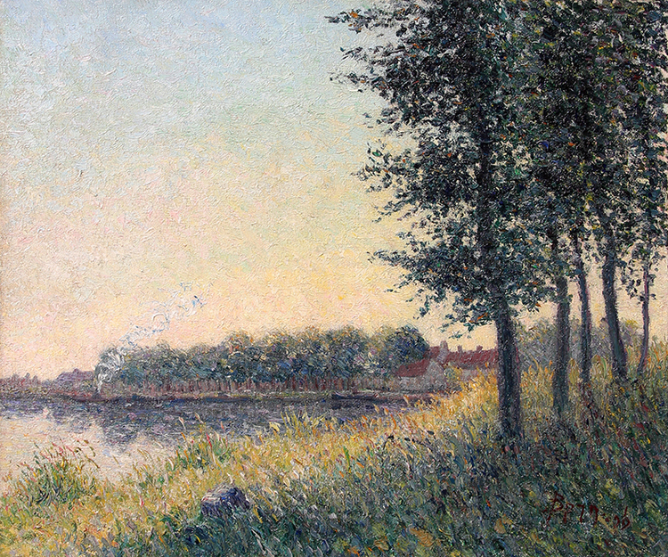 BERNHARD KLENE    La Seine à Saint-Mammès   Oil on canvas 18¼ x 21¾ inches (46.4 x 55.2 cm) $35,000 Click here for more information
