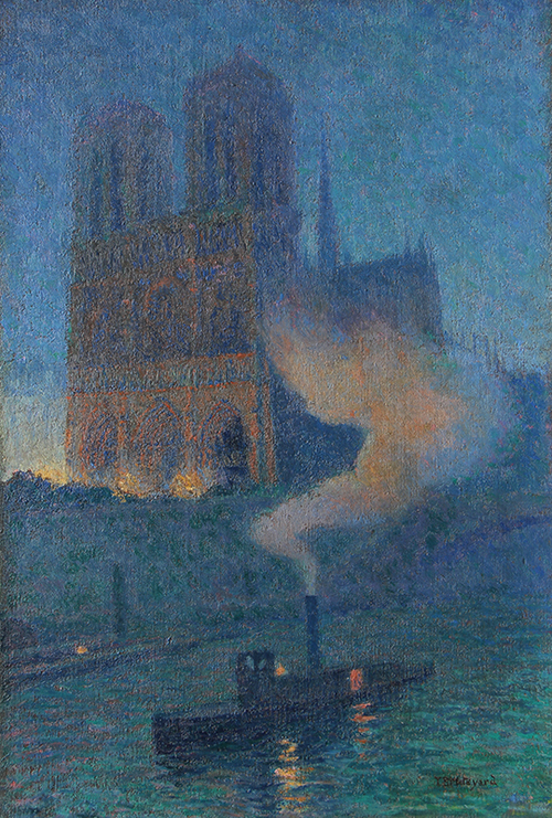 THOMAS BUFORD METEYARD    Notre Dame de Nuit  (c. 1890-93)  Oil on canvas 22 x 15 inches (56 x 38 cm)  SOLD