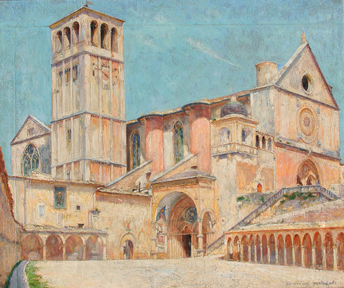 MARIUS MICHEL    Church of Assisi   Oil on canvas 17¾ x 21 inches (45 x 53.5 cm) $5,000 Click here for more information