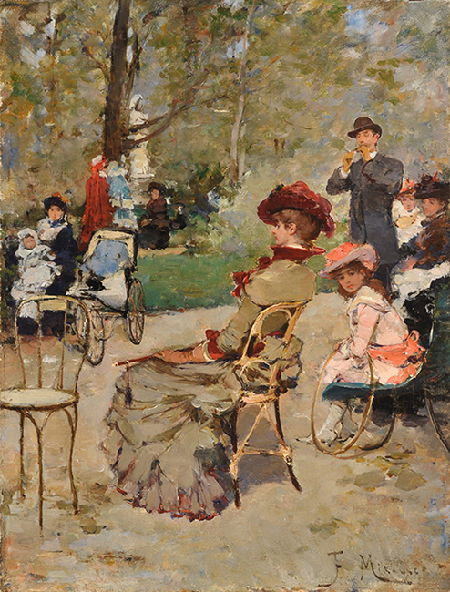 FRANCISCO MIRALLES    Luxembourg Gardens, Paris   Oil on panel 12½ x 9½ inches (32 x 24.2 cm) $37,000 Click here for more information