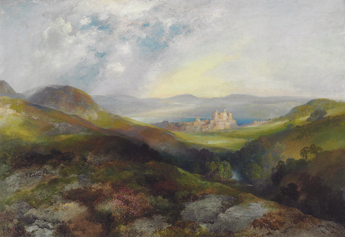 THOMAS MORAN    Conwy Castle, North Wales  (1917)  Oil on canvas 25 x 36 inches (63.5 x 91.4 cm)  SOLD  Click here for more information