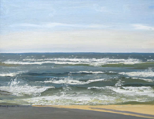 SIMON PARKES    After the Hurricane, Georgica Beach, East Hampton   Oil on panel 11 x 14 inches (28 x 35.5 cm) $4,500 Click here for more information