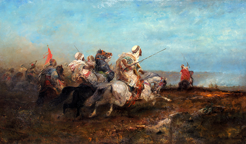 ADOLPHE SCHREYER    The Advance   Oil on canvas 40 x 68 inches (102 x 173 cm) $75,000 Click here for more information