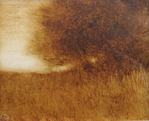 PAMELA SZTYBEL    Golden Ochre   Oil on paper 4¼ x 5 inches (10.8 x 12.7 cm) $1,700 Click here for more information