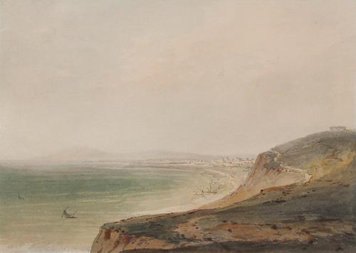 JOSEPH MALLORD WILLIAM TURNER  Fano on the Adriatic  (circa 1796)  Watercolor on paper 6½ x 9¼ inches (16.5 x 23.5 cm)  SOLD