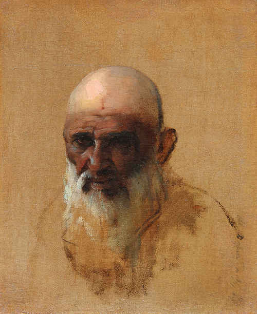 VASILY VERESHCHAGIN    Portrait of a Bearded Man   Oil on canvas 9¼ x 7¾ inches (23.5 x 19.7 cm) $35,000 Click here for more information