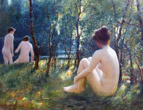 LIONEL WALDEN    Bathers   Oil on canvas 10¾ x 14½ inches (27.3 x 36.8 cm) $28,000 Click here for more information