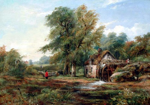 FREDERICK WILLIAM WATTS    The Watermill   Oil on canvas 20 x 28 inches (50.8 x 71.2 cm) $9,500 Click here for more information