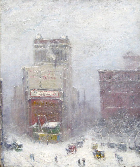 GUY WIGGINS    Fifth Avenue at Madison Square   Oil on canvas 24 x 20¼ inches (61 x 51.4 cm) $125,000 Click here for more information