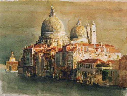 Santa Maria della Salute II   Watercolor on paper 22 x 30 inches (55.9 x 76.3 cm) $8,000 Click here for more information